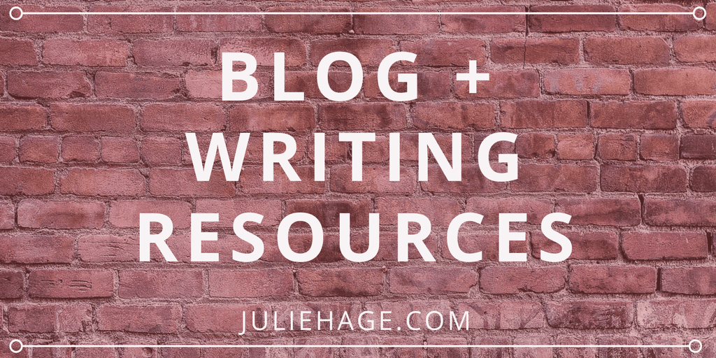 Blogging and Writing Resources | Find all the tools you need to get started blogging or writing for publication. This list of 40+ resources includes some of my favorite tools and blogs.